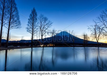 Mount Fuji Fujisan mountain with sunrise Japan