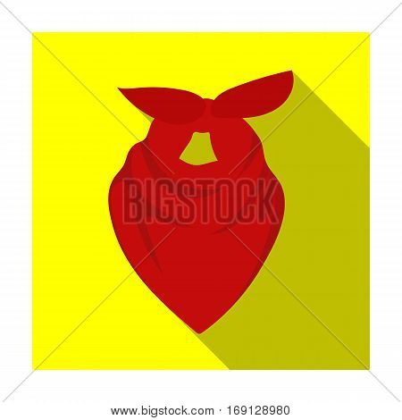 Cowboy bandana icon in flat design isolated on white background. Rodeo symbol stock vector illustration.