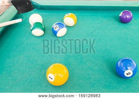 Ball Is Snookered Or Trapped During Snooker Billards Game