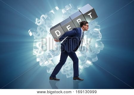 Man under the burden of loan