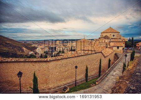 Streets of Old medieval town Cuenca Spain
