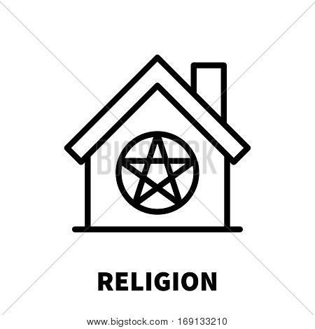 Religion icon or logo in modern line style. High quality black outline pictogram for web site design and mobile apps. Vector illustration on a white background.