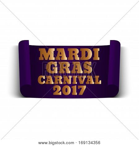Mardi Gras Carnival banner on a white background