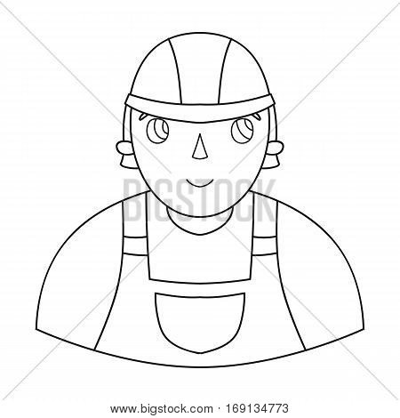 Foreman icon in outline design isolated on white background. Architect symbol stock vector illustration.