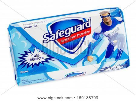 Top View Of Bar Of Safeguard Fresh Soap Isolated On White