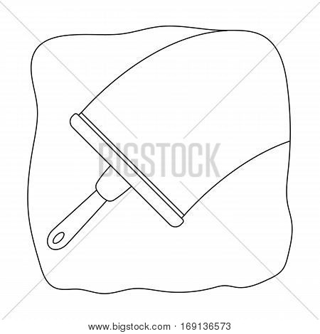 Squeegee icon in outline design isolated on white background. Cleaning symbol stock vector illustration.
