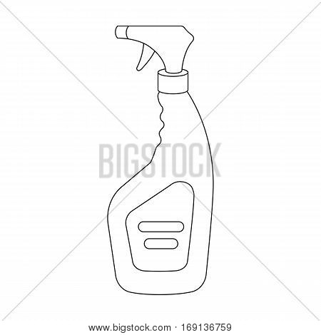 Cleaner spray icon in outline design isolated on white background. Cleaning symbol stock vector illustration.