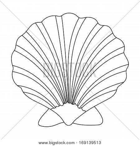 Prehistoric seashell icon in outline design isolated on white background. Dinosaurs and prehistoric symbol stock vector illustration.