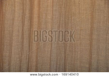 Brown Burlap Jute Canvas Curtain Background
