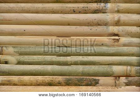 Texture Of Old Bamboo Wood Planks