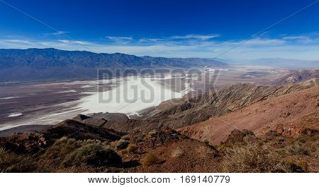 dante's view in death valley national park california usa