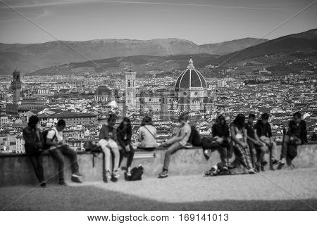 Florence Panorama In Tuscany, Italy