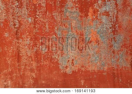 Grunge Red Brown Old Painted Wall Background