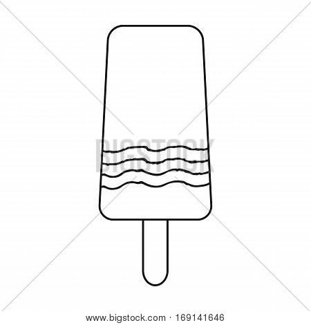 Ice lolly icon in outline design isolated on white background. Ice cream symbol stock vector illustration.