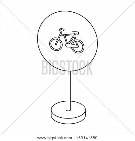 Mandatory road signs icon in outline design isolated on white background. Road signs symbol stock vector illustration.