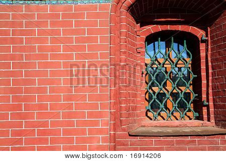 window in brick house