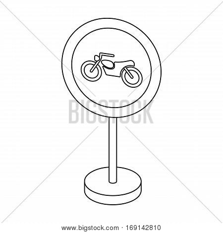 Prohibitory road sign icon in outline design isolated on white background. Road signs symbol stock vector illustration.