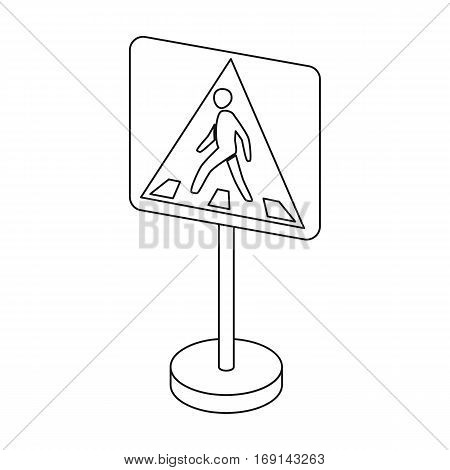 Information road signs icon in outline design isolated on white background. Road signs symbol stock vector illustration.