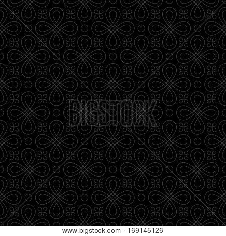 Neutral Seamless Linear Pattern. Tileable Geometric Outline Ornate. Vintage Flourish Vector Background.