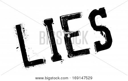 Lies rubber stamp. Grunge design with dust scratches. Effects can be easily removed for a clean, crisp look. Color is easily changed.