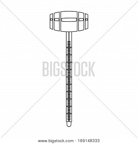 Alcoholmeter icon in outline design isolated on white background. Wine production symbol stock vector illustration.
