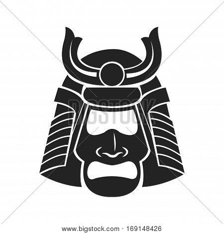 japanese samurai mask warrior vector illustration eps 10