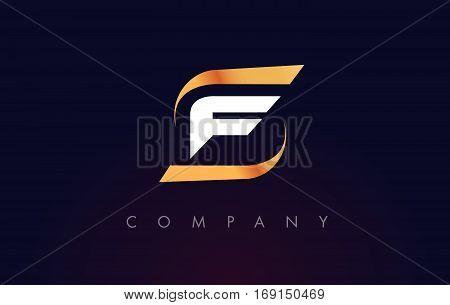 F Letter Logo Design. Modern Letter Template Vector Illustration.
