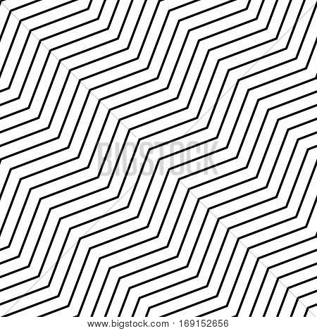 Seamlessly Repeatable Geometric Monochrome Pattern With Distorted Lines