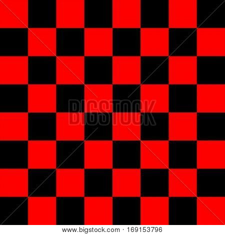 Black and Red Chess board 8 by 8 grid, High resolution background and 3D repeatable texture