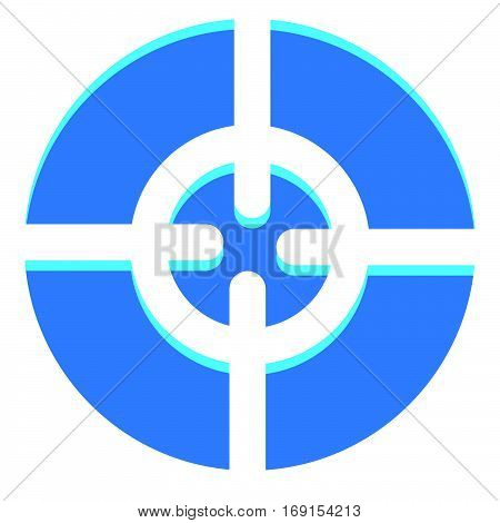 Abstract Crosshair, Target Mark Icon With Adjustable Highlight