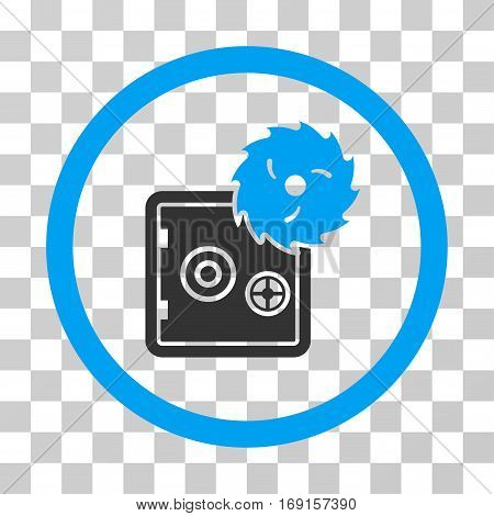 Break Safe icon. Vector illustration style is flat iconic bicolor symbol blue and gray colors transparent background. Designed for web and software interfaces.