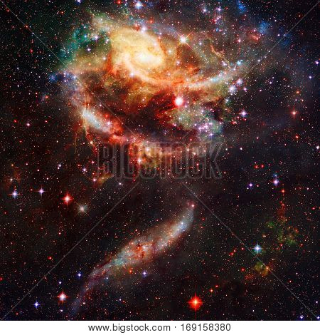 Resplendent Spiral Galaxy In Outer Space.