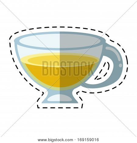 cup espresso hot beverage-cut line vector illustration eps 10