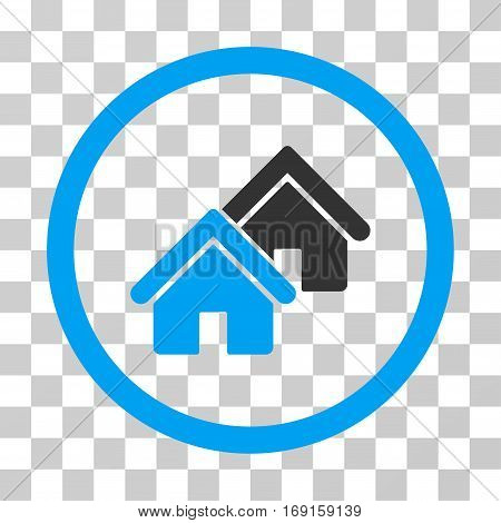 Realty icon. Vector illustration style is flat iconic bicolor symbol blue and gray colors transparent background. Designed for web and software interfaces.