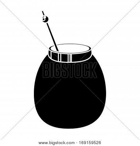 mate tea calabash herb pictogram vector illustration eps 10