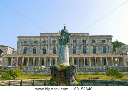 CORFU / GREECE - MARCH 11, 2014 - Palace of St. Michael and St. George, Corfu.