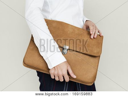 Formal Wear Brown Folder Bag Concept