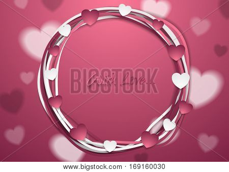 Bright abstract St Valentines Day background. Vector greeting card design