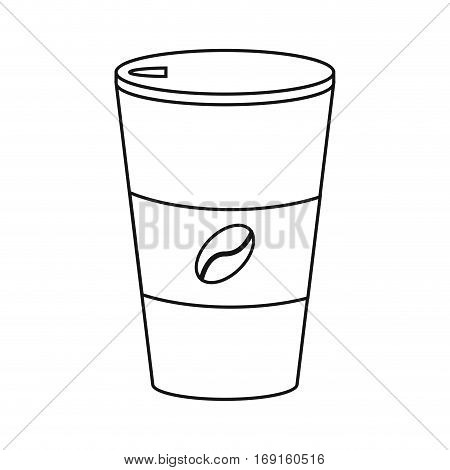 paper coffee cup hot thin line vector illustration eps 10