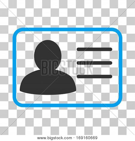 Account Card icon. Vector illustration style is flat iconic bicolor symbol blue and gray colors transparent background. Designed for web and software interfaces.