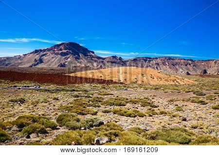 View Of The Main Plateau In The Teide National Park