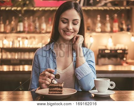 Beautiful Girl At The Cafe
