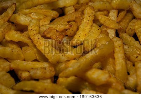 New Fried Fries On A Plate Ready To Be Served