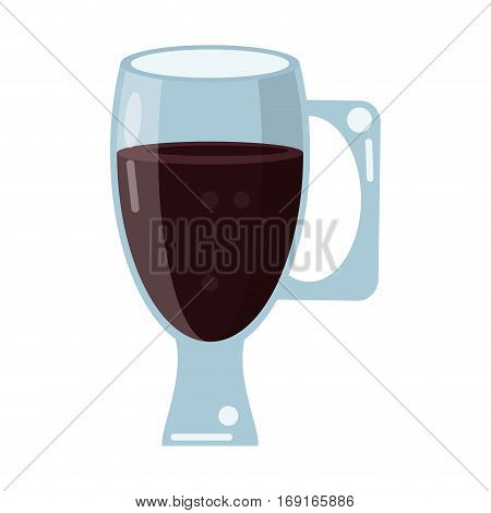 cup glass refreshment cold liquid vector illustration eps 10