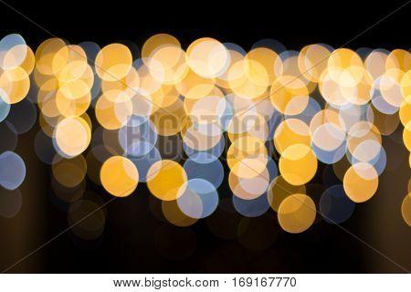 Blurred defocused Christmas holiday lights