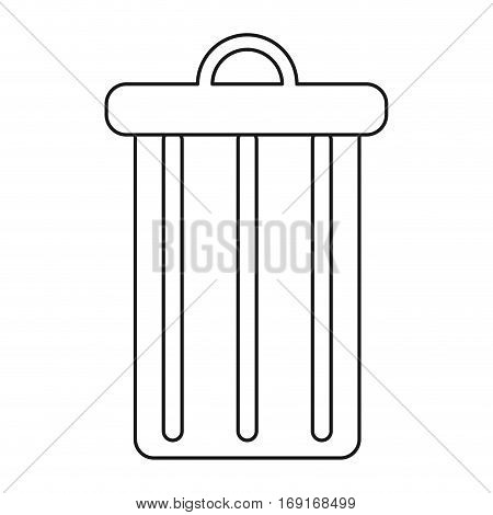 trash can garbage environment recycle thin line vector illustration eps 10