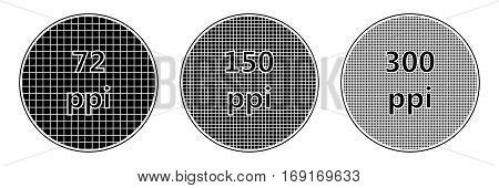 resolution screen pixel density of ppi, the ppi vector