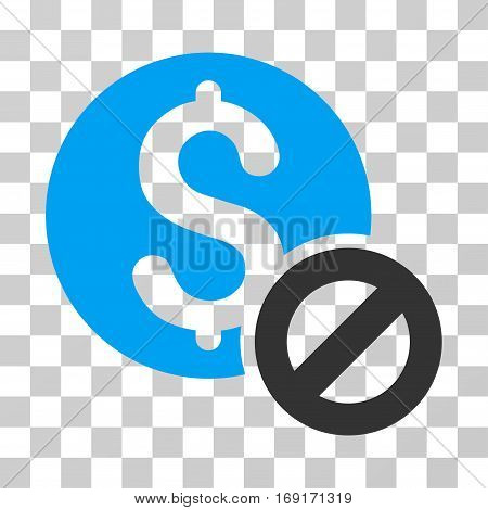 Free Of Charge icon. Vector illustration style is flat iconic bicolor symbol blue and gray colors transparent background. Designed for web and software interfaces.