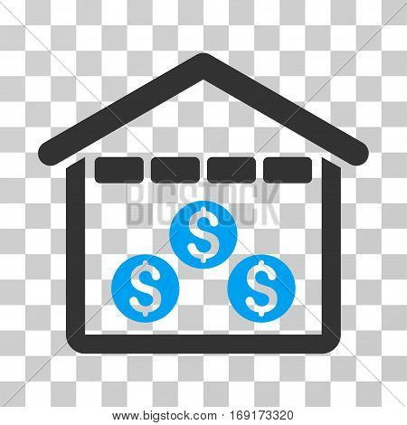 Money Depository icon. Vector illustration style is flat iconic bicolor symbol blue and gray colors transparent background. Designed for web and software interfaces.