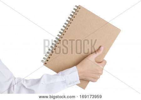 Woman's Hand Holding A Book